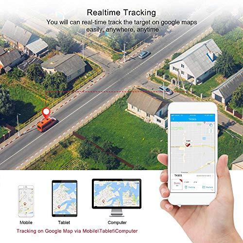 61LF3cLiIhL - TKSTAR Localizador gps para coche , Magnético fuerte Rastreador GPS , Vehículos Monitoreo Sistema en Tiempo Real , Anti perdido Dispositivo impermeable gps tracker con gratis APP para Smartphone TK905