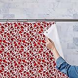AZ Valentine Hearts Washable Waterproof Shower Curtain 54 x 84inch; SINGLE PIECE