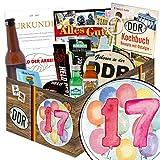 17. Geburtstagsgeschenk | Männer Box | Geschenkideen | 17er Jahrestag Beziehung | mit Pfeffi Likör, Kondomen, Bier und mehr | mit Pfeffi Likör, Kondomen, Bier und mehr