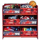 Aufbewahrungsregal - Spielzeugkiste - Spielzeugtruhe - Disney Regal 6 Boxen mit Motivauswahl (Cars)