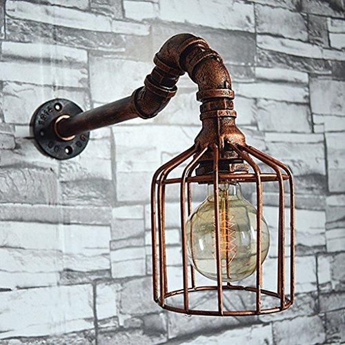 Tubi Lampada da parete ferro lampada da parete Metallo Acqua Lampade luci del tubo manuali Accessori ( colore : A )