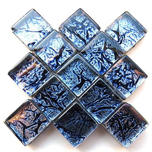 Carreaux de mosaïque artisanale - Tuile à revers en aluminium - 10 mm - 50 g - Cobalt