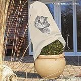 Videx-Winterschutz Vlieshaube, neugierige Katze, beige