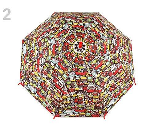 1stück 2 Rot Auto Kinder Regenschirm Automatik Mit Trillerpfeife, Eule, Dinosaurier, Autos, Universum, Regenschirme, Und Regenjacken, Modisches Zubehör