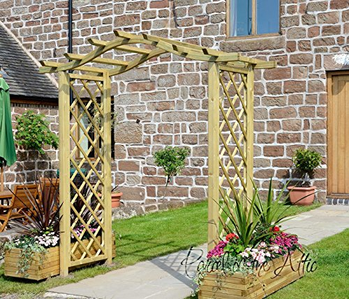 santander-bow-curved-top-wooden-garden-arch-trellis-sides-solid-timber-treated-against-rot