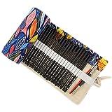 ONEGenug colorato Sacchetto della matita, 48 fori, Borsa per penne, Astuccio, Roll Up Pencil Pouch, Forniture per artisti, Bo