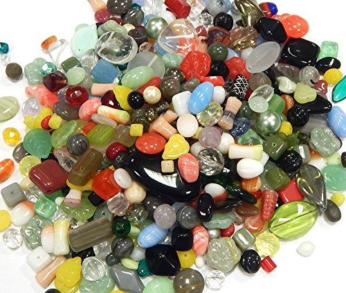 Boehmisches Glasperlen Bunte ** EDEL MIX ** Gefrostete, Matt, Schimmer, Kristall, PRECIOSA TSCHECHISCHE Kristall Perlen Set, Basteln Schmuck set CZ469 (50) -