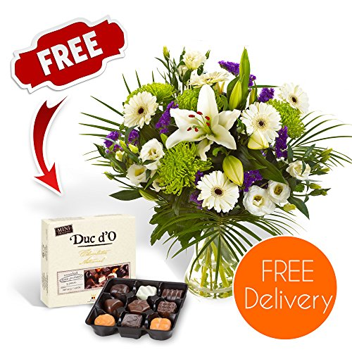 fresh-flowers-lilies-germini-chrysanthemums-and-deep-blue-statice-with-free-delivery-to-the-uk