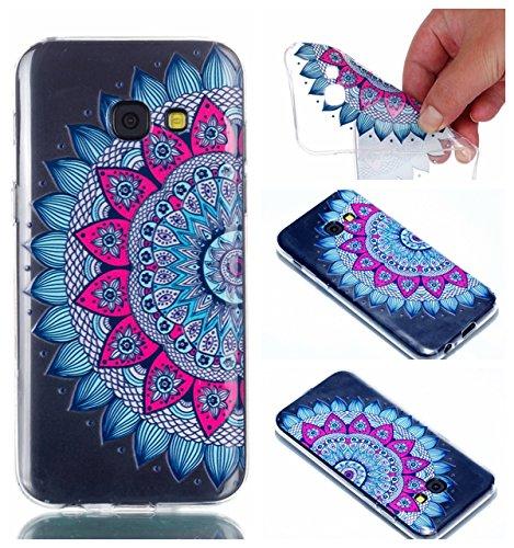 Cozy Hut Samsung Galaxy A3 2017 Hülle Case, Ultra Dünn Transparent Soft-Flex Handyhülle/Bumper-Style Premium-TPU Silikon/Kratzfest Schutzhülle für Samsung Galaxy A3 2017 - Datura Blumen