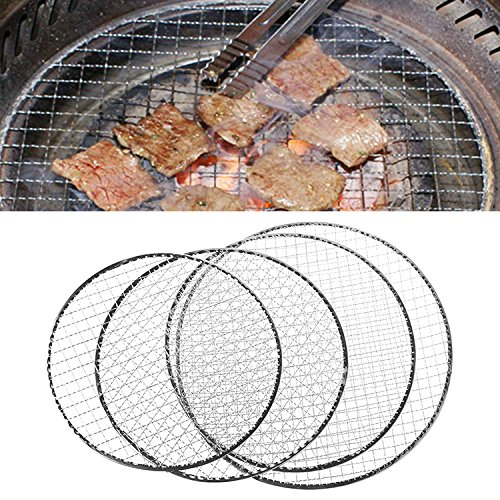 Manyo desechable BBQ Rejilla de Barbacoa Cesta inalámbrico de Enrejado metálico Carne Pescado hortalizas...