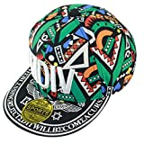 Belsen Kind Hip-Hop Briefe gedruckt Cap Baseball Kappe Hut (grün)