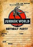 Jungen JURASSIC World//Dinosaurier Geburtstag Party Einladungen x 8+ Umschläge, 8