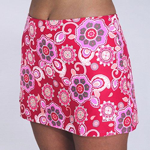 DEBLIT-Falda-boreal-roja-Faldas-de-padeltenis-con-pantalon-Estampada-con-flores-en-tonos-rojos-y-rosas