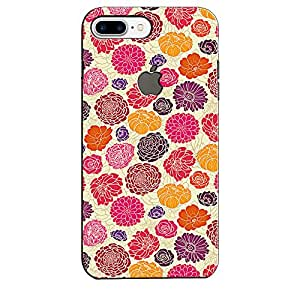 EU4IA Colorful Flower PRINTED MATTE FINISH Back Cover Case For IPHONE 7 - D281