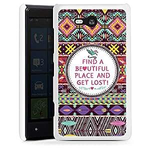 Nokia Lumia 820 Hülle Schutz Hard Case Cover Sprüche Muster Statement