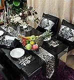 Sucastle® 1XTischset-26X36cm Tuch Tischläufer Hochzeit Tischband ,abwaschbar (Farbe wählbar),Meterware,Tischwäsche,stoffähnliches Vlies, Party, Catering , Vereinsfeier ,Geburtstag