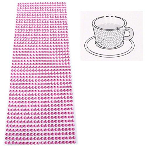 Strasssteine Glitzersteine selbstklebend Bordüre Rosa 5mm