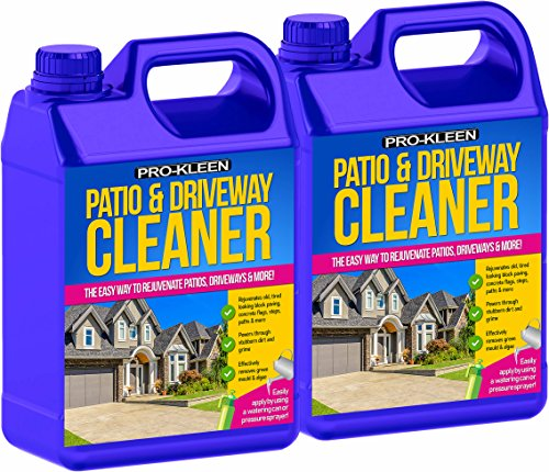 Pro-Kleen Patio & Driveway Cleaner (10L) - Removes Green Mould, Algae & Lichen