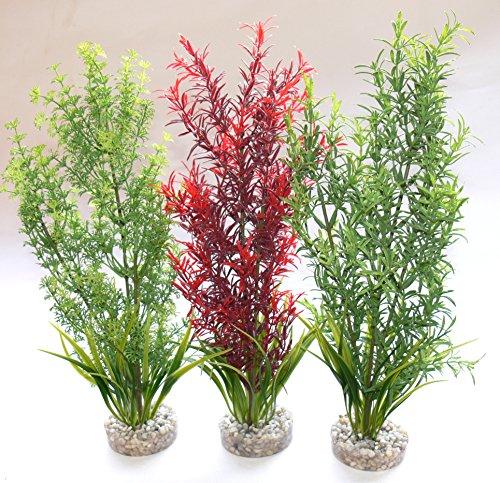 Sydeco Plastik Pflanzen Deko für Aquarien/Terrarien Aquaplant -XL- 30cm
