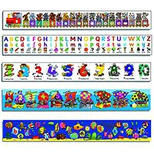 Small World Design Children's ABC & Numbers Wall Frieze Pack