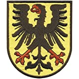 AUFNÄHER - Wappen - Dortmund Adler - 00403 - Gr. ca. 7 x 8,5 cm - Patches Stick Applikation