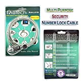 RiaTech® 2m Security Number Lock Cable for Notebook/Laptop