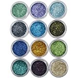 Asian Hobby Crafts Glitter Sparkle Powder :Pack of 12 Color : 7g Each Color