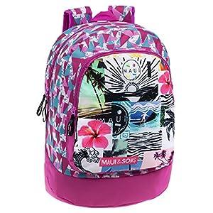 Maui 3362351 Mochila Escolar, 21.29 litros, Color Rosa