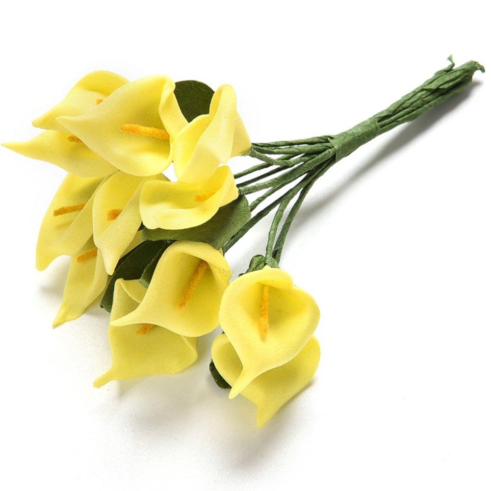 24 unidades de flores artificiales de látex para ramo de novia, bricolaje, decoración de bodas, flores falsas, azul…
