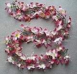 Blumengirlande Hibiskus rosa / weiss CBK-MS® ~ ca. 120 cm ~ zum verschönern Ihres Fahrrades oder Ihrer Wohnung