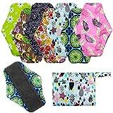 Serviettes hygiéniques réutilisables 7 pièces avec un sac de rangement Serviette...