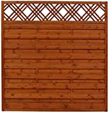 Andrewex Sichtschutzzaun Element im Farbton Teak 180 x 180 cm aus Kiefer und Fichte lasiert