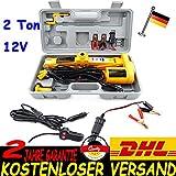 2 Ton 12V Elektrischer Wagenheber Scherenlift Scherenwagenheber 125-420mm Neu