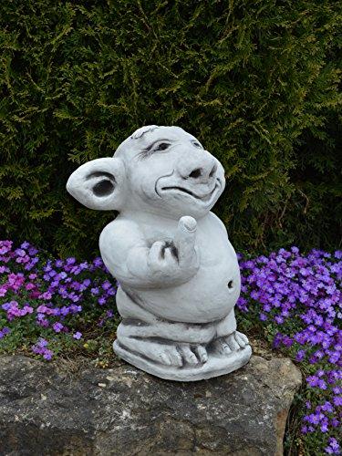 """Riesen XXL Troll """"Mittelfinger"""" Stinkefinger aus Steinguss, frostfest - 4"""