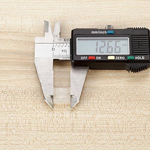 Shintop 80 Stück Stoßfänger Möbel, Anschlagpuffer Selbstklebend  Schutzpuffer Transparent Silikon Gleiter für Möbel und Elektro (Rechteckig)