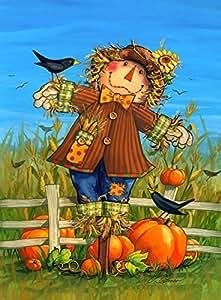 Oktober Vogelscheuche Fall Garten Flagge Ernte Crows Herbst 31,8x 45,7cm