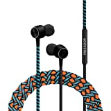 CROSSLOOP PRO Series Braided Tangle Free Designer Earphone with Metallic Driver for Extra Bass, in-Line Mic & Multi-Functiona