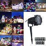 KING DO WAY Kit De '10 Motifs' LED Projecteur Extérieur Lumière De Jardin Lampe Décorative Eclairage Etanche Extérieure Paysage Décor Partie Soirée