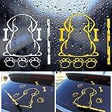 Autofenster Aufkleber, selbstklebende Cartoon Hund Moving Tail Scheibenwischer Aufkleber Reflektierende Weiß Aufkleber für Hinten Autofenster (2 pcs)