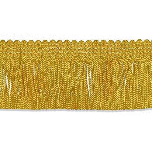 Fringe Kostüm Flapper Tanz - Dekorative Besätze 100% Rayon Chainette Fransen, 5,1cm X 9YD, Flagge Gold