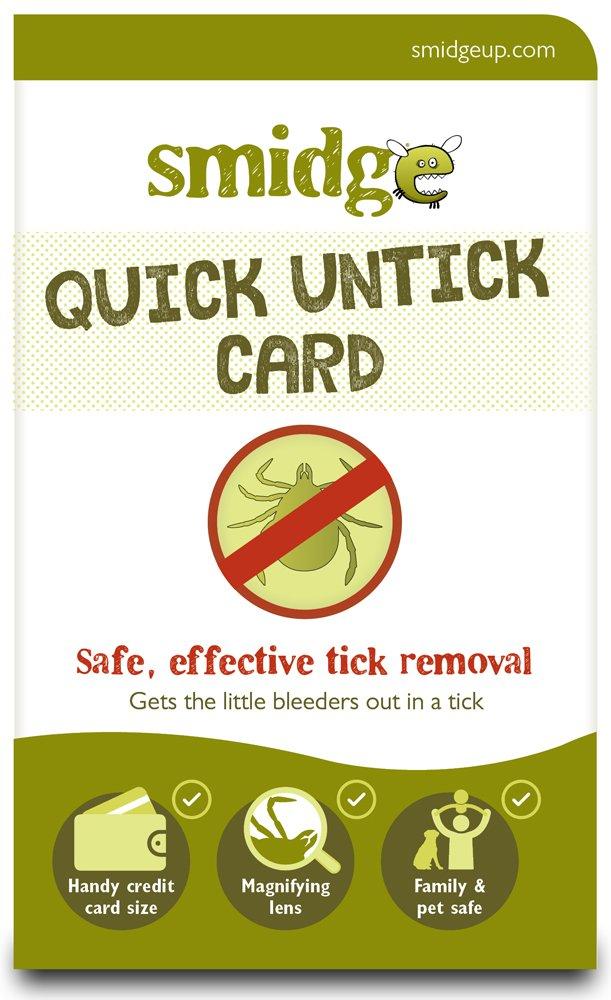 Smidge Unisex's Tick Removing Card, Green, one size 2