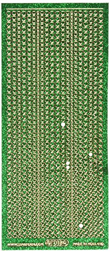 Elizabeth Craft Designs-glitter (Elizabeth Craft Designs Glitter Dots Assorti Peel-Off Stickers-Green)