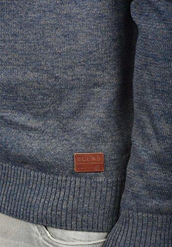 BLEND Daniri Herren Strickjacke Cardigan Feinstrick mit Stehkragen aus Baumwoll-Mischung Ensign Blue (70260)
