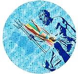 Poolabdeckung * Luftmatratze * rund * bedruckt * Motiv Relax * (Ø 2,0 m)