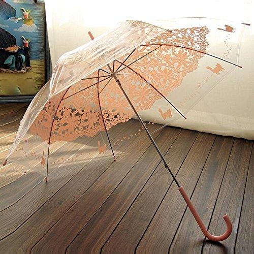 bpblgf Hakengriff Hochzeit Besondere Anlässe Maskerade Strand Regenschirm Regenschirme, B (Spitze Rüschen Sonnenschirm)