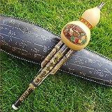 Hulusi chinesische Bambusflöte aus chinesischem Bambus, handgefertigt, Cucurbit, Flöte, Instrument für ethnische Musikinstrumente, C Schlüssel Bb Ton für Musikliebhaber Anfänger C key