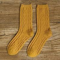 Socke Herbst Winter dicke warme Wollsocken Frauen Farbe weibliche 1, Gelb