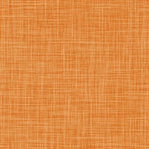 Wachstuch Breite & Länge wählbar - dcfix Leinen LOOK Orange - ECKIG 120 x 160 bzw. 160x120 cm abwaschbare Tischdecke Wachstücher Gartentischdecke