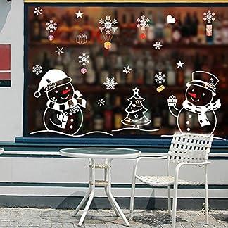 LianLe®. Decoración navideña de pared en PVC para ventanas