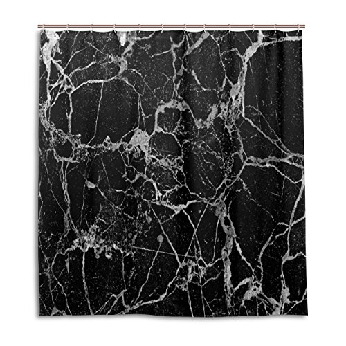 (Duschvorhänge Schimmelresistent Wasserdicht Backform Marmor Thema waschbar Bad Vorhang mit Robuste Haken für Badezimmer Zubehör 167,6x 182,9cm (168cm x 183cm))